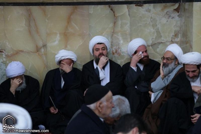 شرکت در مراسم چهلمین روز درگذشت آیت الله مویدی قمی